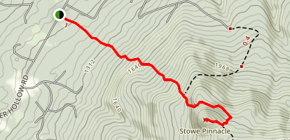 Stowe Pinnacle Trail Map