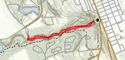 Gorge Trail and Indian Trail Loop Map