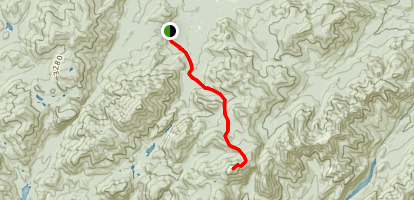 Mount Marcy from Adirondak Lodge Map