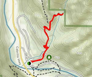 Pfeiffer Falls Trail (CLOSED) Map