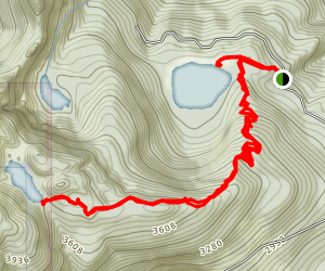 Pinnacle Lake Trail Map
