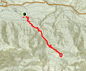 South Fork Trail to Dry Lake Map
