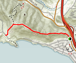 Shell Beach Bluffs Walking Path Map