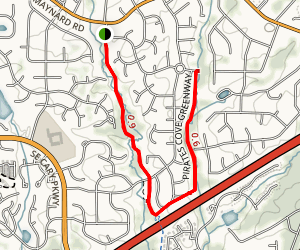 Hinshaw and Pirate's Cove Greenways Map