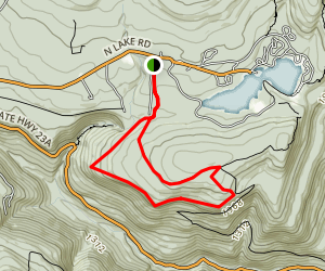 Inspiration Point and Boulder Rock Trail Map