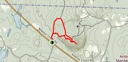 Mount Watatic and Nutting Hill via Wapack Trail Map