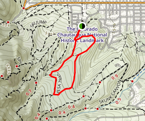 Enchanted Mesa and McLintock Nature Trails Map