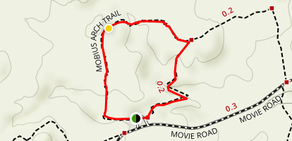 Mobius Arch Loop Trail Map