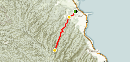 Laie Falls Trail Map