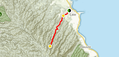 Laie Falls Trail [PRIVATE PROPERTY] Map