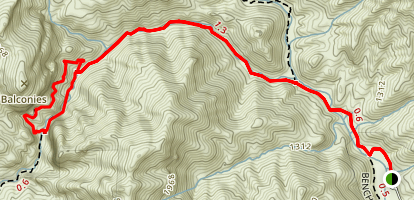 Old Pinnacles Trail to Balconies Map