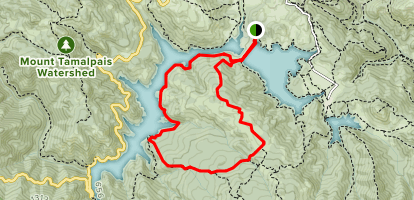 Kent Trail to Stocking Trail, Rocky Ridge Fire Road Map