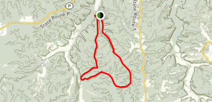 Kaintuck Hollow Acorn Section Trail Map
