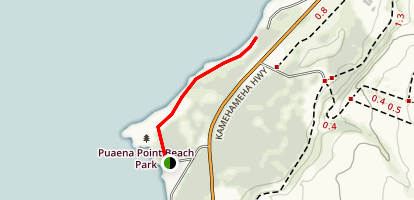 "Puaena Point to Papailoa ""Police"" Beach Map"