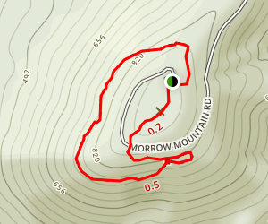 Morrow Mountain Loop Trail Map