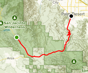 Pines to Palms Scenic Drive: Banning to Palm Desert Map