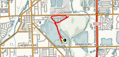 Lake Renwick and Budde Lake Loop Trail Map
