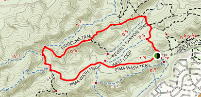 Pima Wash Trail Map