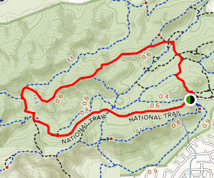 Ridgeline and National Trail Loop  Map