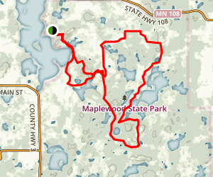 Maplewood State Park Trails Map