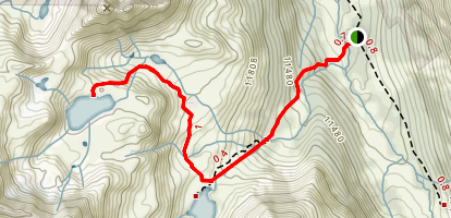 Petroleum and Anderson Lakes Trail Map