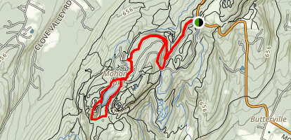 Eagle Cliff and Mohonk Lake Trail Map