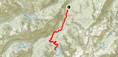 Colchuck Lake Trail Map