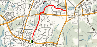 Speight Branch Greenway Map