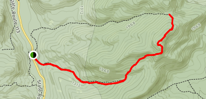 Caribou and Gammon Mountain via Mud Brook Trail Map