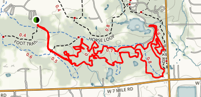 Maybury Singletrack Trail Map