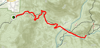 Cedar Creek Falls Trail Map