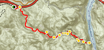 Gold Strike Hot Spring Trail Map
