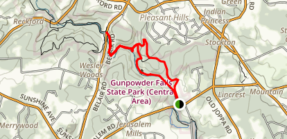 Gunpowder Falls State Park:  Map