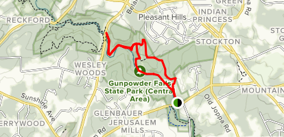 Gunpowder Falls State Park Map Little Gunpowder Trail to Jerusalem Mills Trail Loop   Maryland