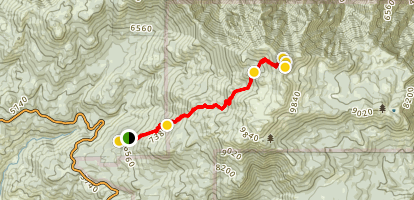 Marion Mountain to San Jacinto Map