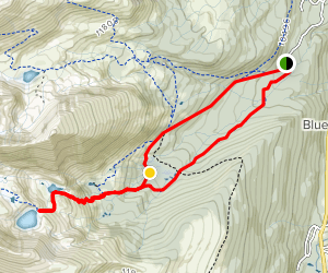 Spruce Creek Trail to Mohawk Lake and Continental Falls Map