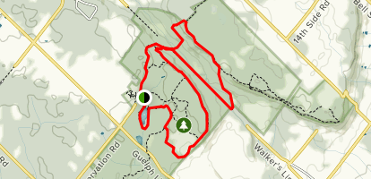 Crawford Lake Conservation Area and Iroquoian Village Trail Map