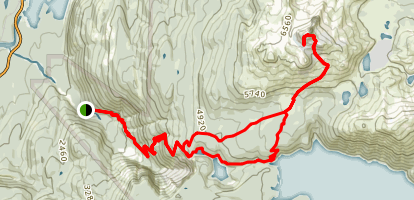 Black Tusk Trail Map