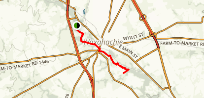 Waxahachie Creek Hike and Bike Trail Map