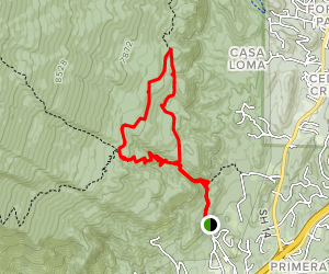 Faulty Loop via South Crest Trail Map