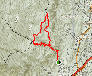 South Crest Trail Loop Map