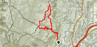 Upper Faulty and South Crest Trail Loop Map
