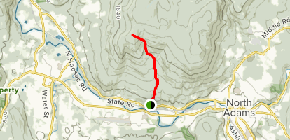 Appalachian Trail: North Adams (Eph's Lookout) to Harmon Hill and Bennington Map