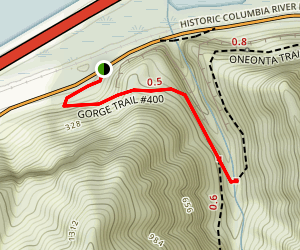 Oneonta Gorge Trail Map