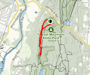 Talcott Mountain Trail Map