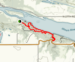 Starved Rock and Sandstone Point Overlook Trail Map