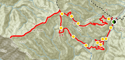 Hermit Gulch Trail to Lone Tree Point Map