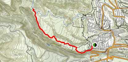 Quemazon Trail Map