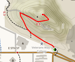 'A' Mountain at Hayden Butte Map