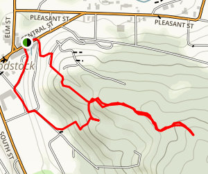 Mount Peg Foot and Bridal Trails Map